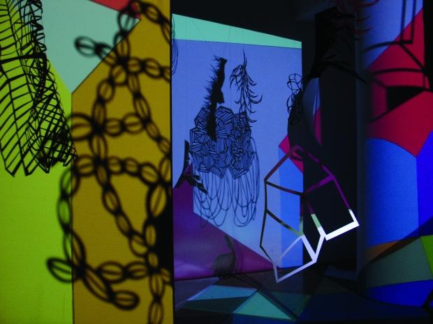 Julia Masvernat, detalle de la exposición Ficción encendida, Centro Cultural de España en Buenos Aires, 2009.